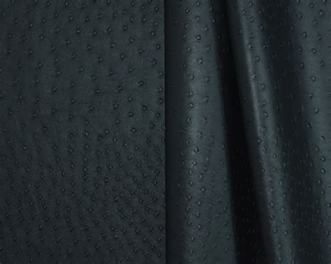 Automotive Upholstery Material by Ostrich Black Vinyl Leatherette Fabric For Auto And