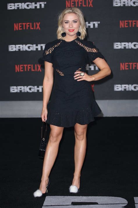 Gabby Allen at UK film premiere of 'Bright' held at BFI ...