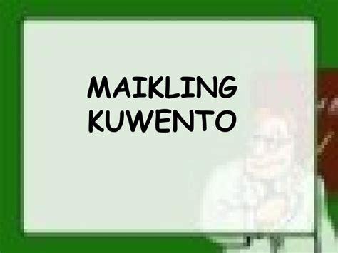 maikling kwento