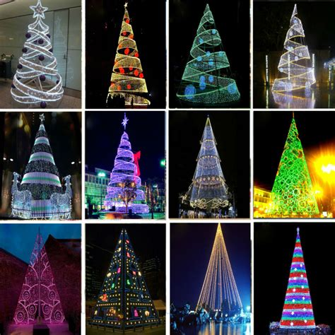 outdoor indoor blue white 818 led spiral tape pop up christmas tree outdoor decorations led spiral tree psoriasisguru