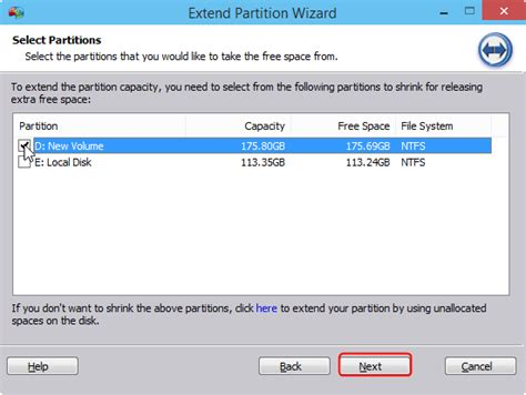 extend c drive system partition in windows 10 with free
