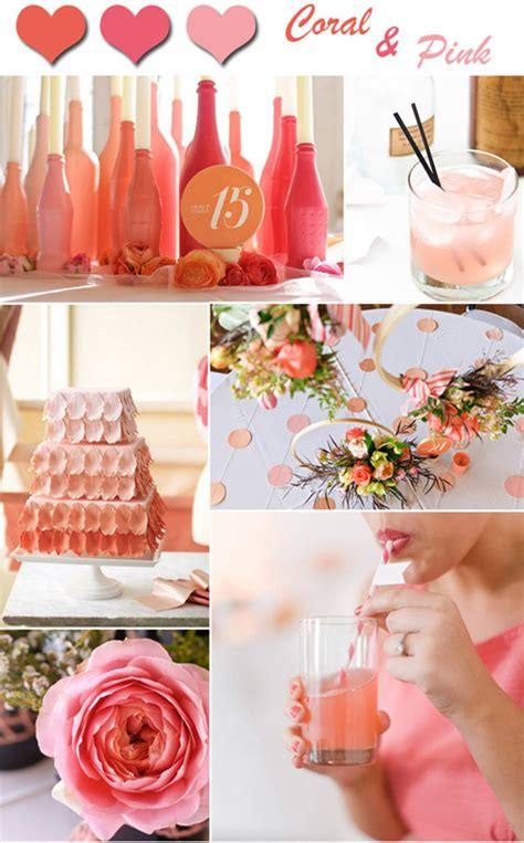 Coral Color Decorations For Wedding by 2014 Wedding Color Trends Coral Wedding Ideas And