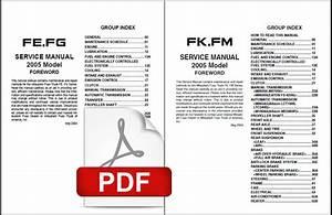 2005 Mitsubishi Fuso Fe Fg Fk Fm Factory Service Repair
