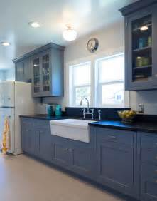 Most Popular Living Room Paint Colors 2016 by Vintage Blue Galley Kitchen Traditional Kitchen San