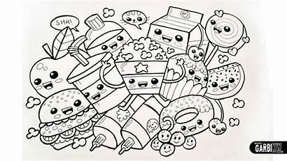 Kawaii Coloring Pages Drawings Mandala Easy Drawing