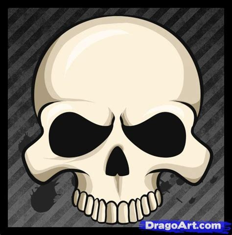 How Draw Easy Skull Step Skulls Pop