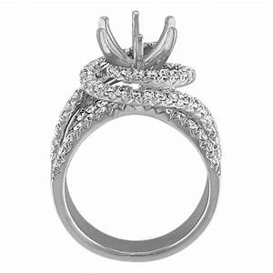 swirl engagement ring with round pave set diamonds shane co With swirl wedding ring sets