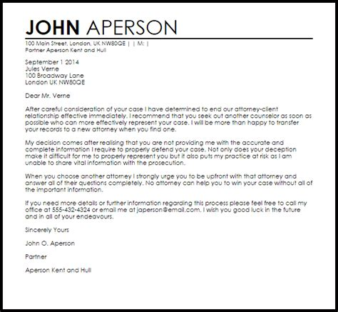 attorney client termination letter  letter