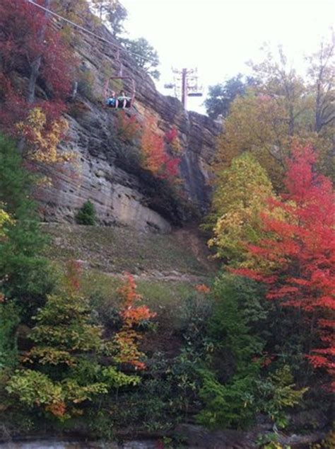 chair lift to bridge picture of river gorge