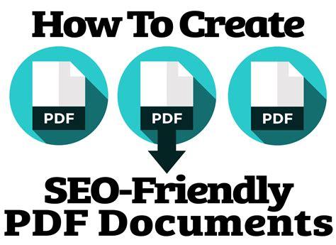 Seo Pdf by How To Create Seo Friendly Pdf Documents
