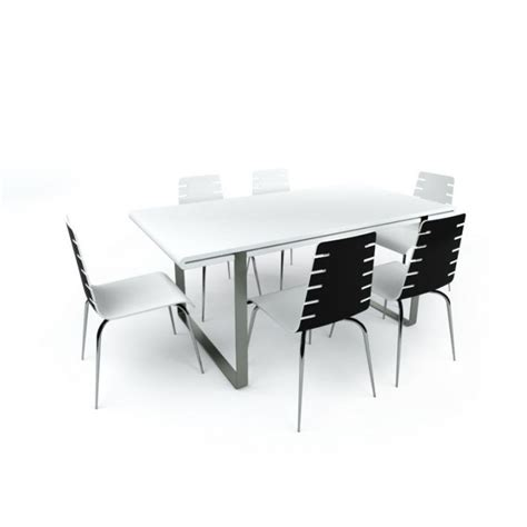 small conference table with chairs 3d model cgtrader