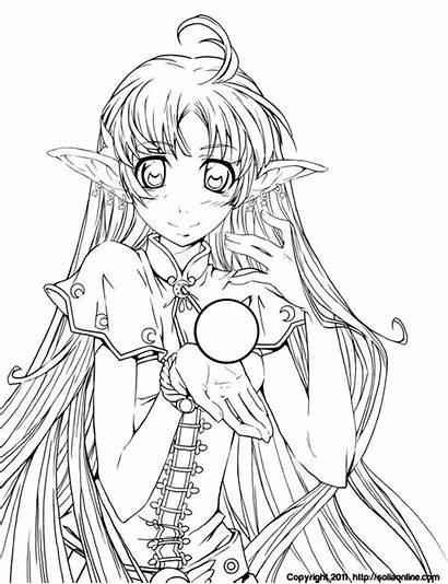 Coloring Deviantart Anime Ausmalbilder Manga Adults Raine