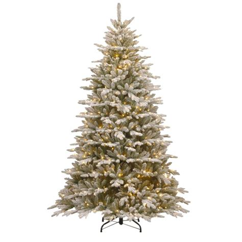 home accents sierra nevada fir tree 75 national tree company 7 5 ft snowy spruce artificial tree with clear lights