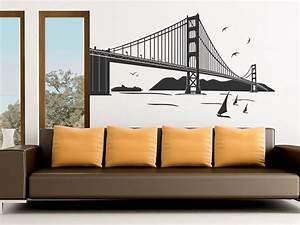 Wandtattoo San Francisco : san francisco wandtattoo golden gate bridge von ~ Whattoseeinmadrid.com Haus und Dekorationen