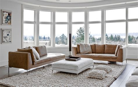 Square Living Room : Large-square-ottoman-living-room-contemporary-with-brown