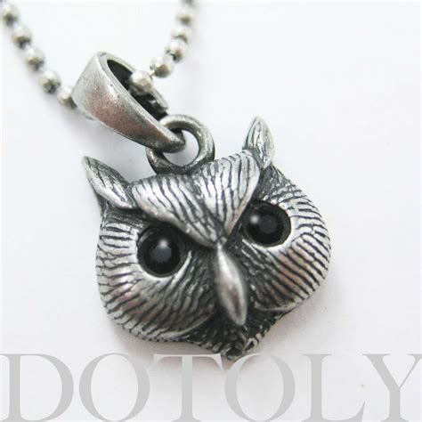 one dollar sale owl bird animal charm necklace in silver