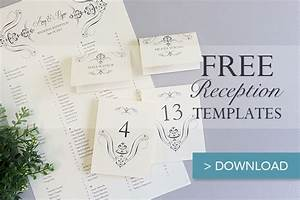free printable wedding reception templates the budget With table placement cards templates