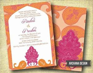 Indian wedding invitation custom diy digital pink by for Online indian e wedding invitations