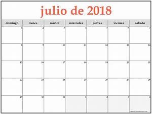 calendario julio 2018 para imprimir Hospi noiseworks co