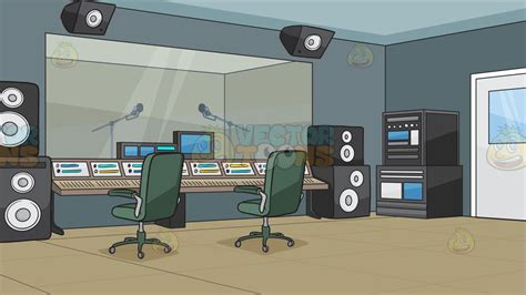 The sound of music remains as strong as ever because it continually builds a new audience amongst the young. A Recording Studio Background - Clipart Cartoons By VectorToons