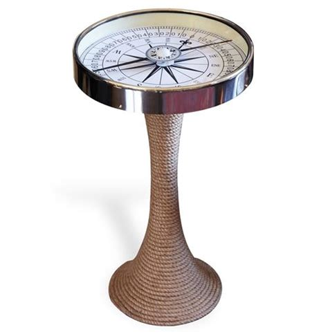 Nautical Glass And Coastal Style Compass Accent Side