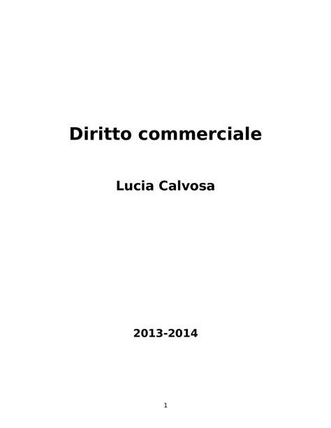 Dispensa Diritto Commerciale by Diritto Commerciale Nozioni E Appunti