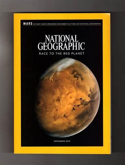 Geographic Mars National Magazine November Issue Map
