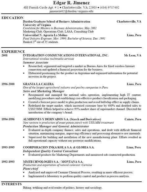 Exle Of A Resume by Resume Exles To Make Your Resume Powerfulbusinessprocess