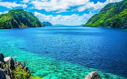 Palawan Philippines Sea Wallpapers Scenic Mountain Island