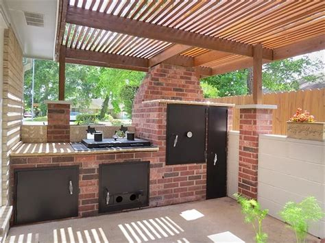 outdoor kitchen designs with smoker outdoor kitchen with built in smoker outdoor kitchen 7238