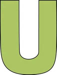 Green Letter U-Clip Art