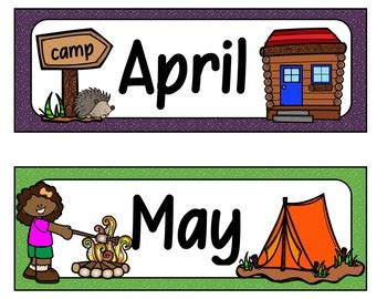 days   week  months   year camping theme