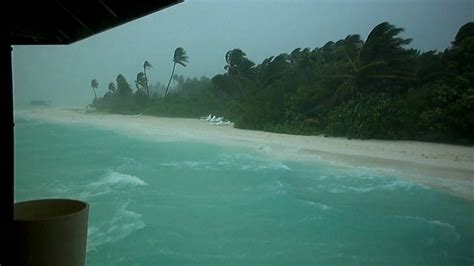 meeru island resort maldives weather storm youtube