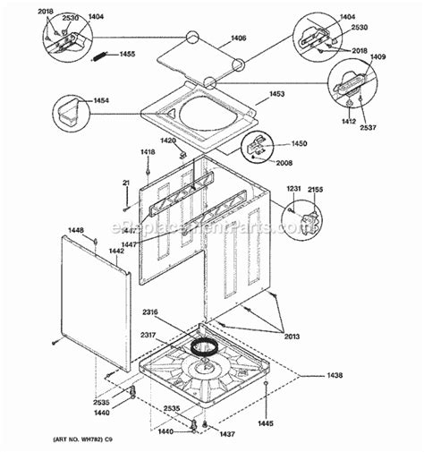 spinning kitchen cabinet ge wsm2700dawww parts list and diagram ereplacementparts 2428