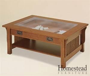 Landmark Glass Top Coffee Table Homestead Furniture