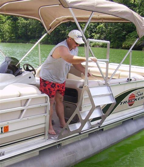 Boat Dock Ladder Parts by Tooner Ii Pontoon Retractable Ladder Pontoon Deck Boat