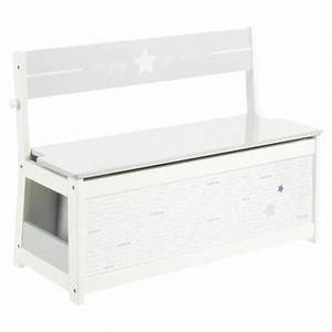Coffre Jouet Blanc : banc coffre jouet mixte 78cm blanc ~ Teatrodelosmanantiales.com Idées de Décoration