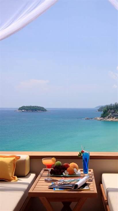 Ocean Summer Breakfast Iphone Wallpapers Android Backgrounds