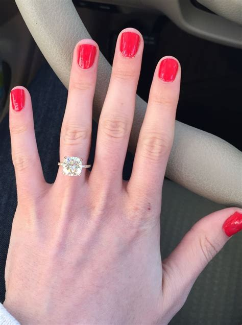 Best  Solitaire Cushion Cut Ideas On Pinterest