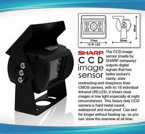 7 U0026quot  Rearview Mirror Monitor 12v 24v Reversing Ccd Camera