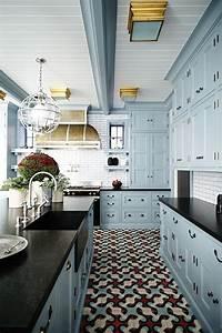 23 gorgeous blue kitchen cabinet ideas blue kitchen With kitchen colors with white cabinets with james dean wall art