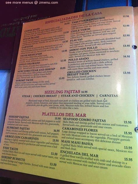 menu  el patio restaurant restaurant simi valley
