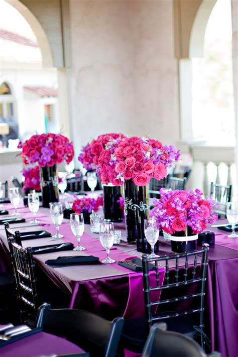 purple and black table settings black and purple wedding table decorations pictures to pin on pinterest pinsdaddy