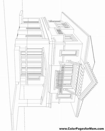 Coloring Buildings Pages Adult