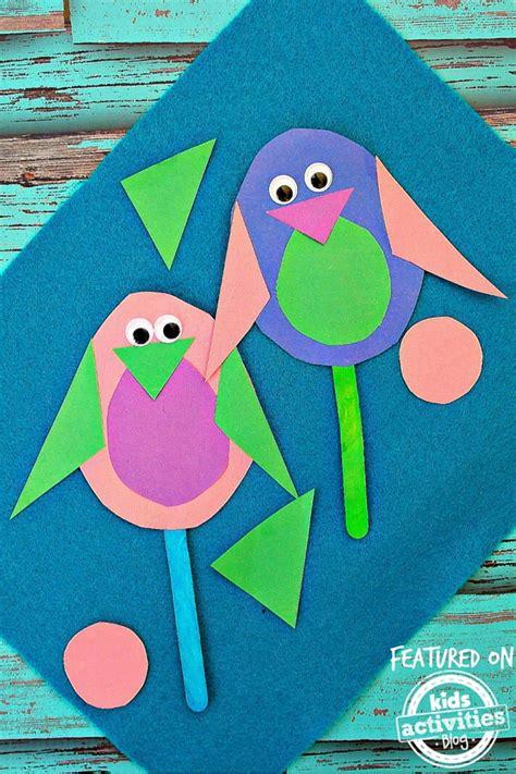 chickadee shapes craft