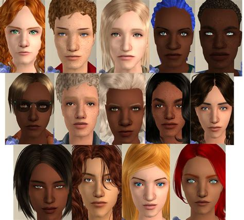 the sims 2 face replacement templates mod the sims look these non default faces template of