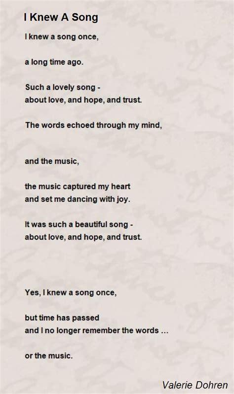 knew  song poem  valerie dohren poem hunter