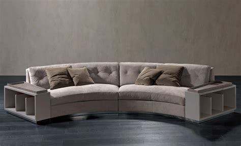 semi circular leather sofa semi circular sofa in leather circus rugiano luxury