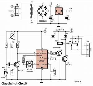 clap switch circuit wiring diagrams With clap on off switch