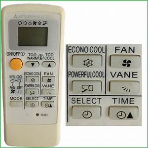 Mitsubishi Air Conditioner Manual Remote Control
